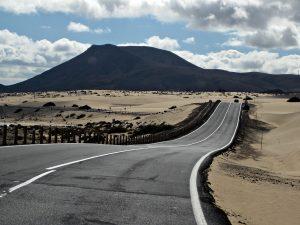 Estado del asfalto de una carretera