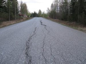 Deshilachamiento carretera